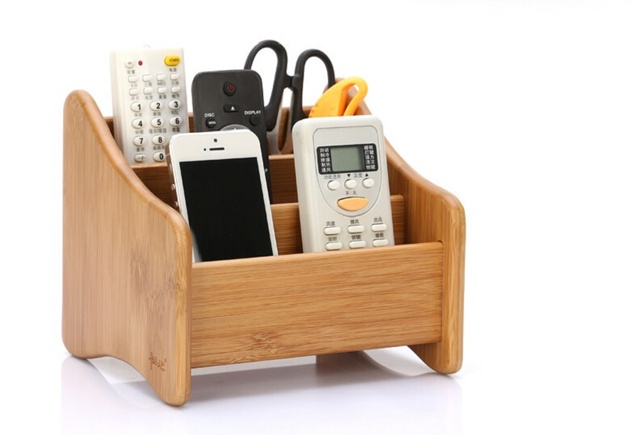 Charming Brief Bamboo Solid Wood Remote Control Storage Box Creative Wood Office  Desktop Storage Box Living Room Part 8