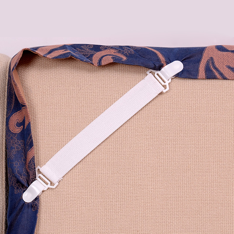 4Pcs/Set Bed Sheet Clip Bed Sheet Belt Fastener Mattress Elastic Non-slip Clip Blanket Gripper