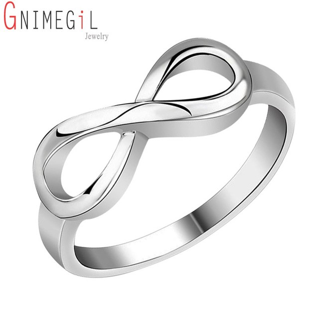 Beste Vriend Gift Verzilverd Infinity Ring Endless Love Symbol