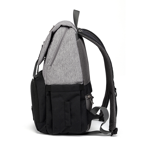 New Fashion With USB Mummy Daddy Diaper Bag Pure Large Waterproof Nursing Bag Travel Backpack Stroller Baby Care Nappy Bag 3