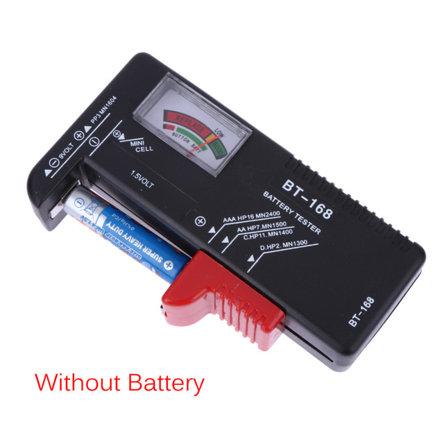 For AA AAA 9V Button Multiple Size Battery Tester Checker Voltage Meter Tool BT168 Universal Digital Battery Tester Volt Checker