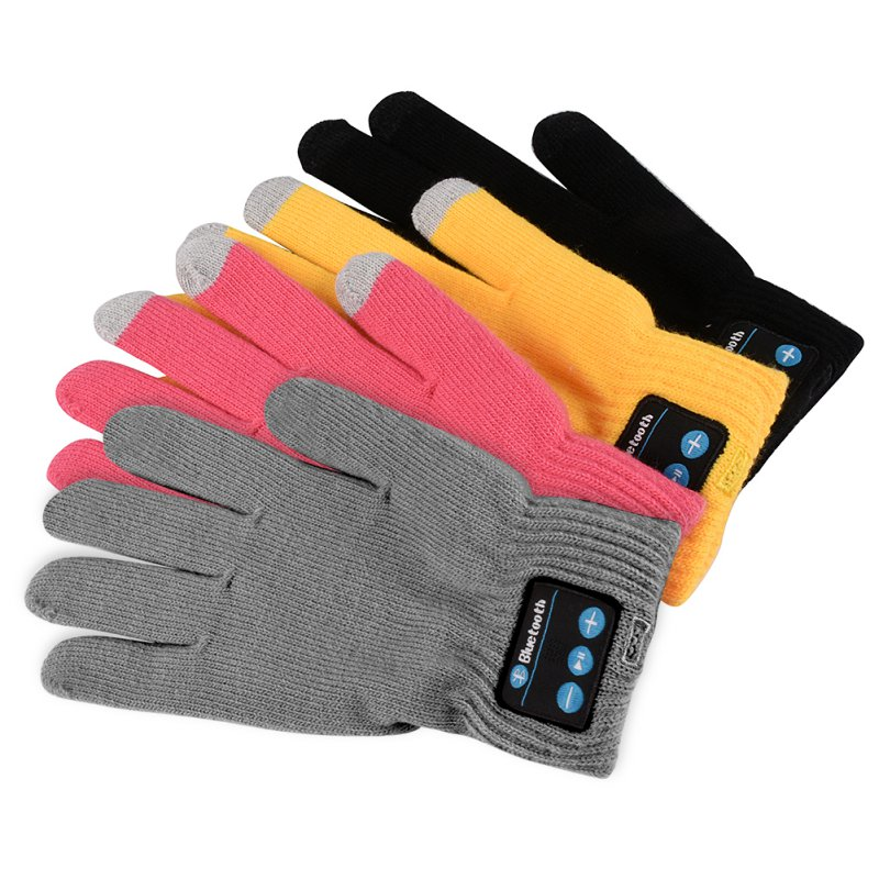 Hot 2017 Bluetooth Gloves Women Men Unisex Winter Knit Warm Mittens Call Talking &Touch Screen Gloves Mobile Phone Pad D1