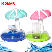 DMAR 2pcs Mini Inflatable Flower Pool Drink Float Toys Cup Holder Swimming Ring Sea Beach Mattress