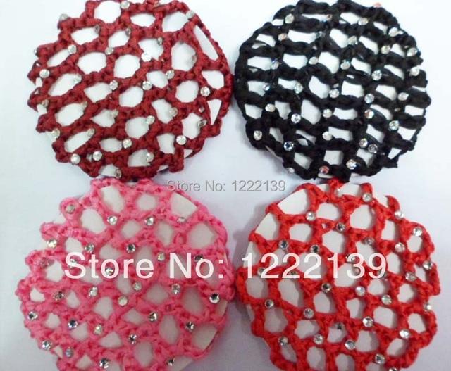 Crochet moda rhinestone pelo redecilla Net malla bollo redecilla ...