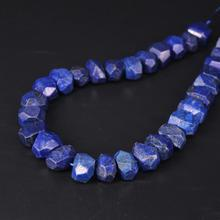 15.5/strand Faceted Nugget Pendant Beads,Natural Lapis Lazuli Gems Stone Cut Loose Beads Bulk Bracelet Jewelry Making