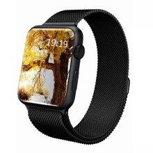 Nuevo para apple watch band 38mm 42mm milanese bucle tejida pulsera de acero inoxidable para correas de reloj iwatch