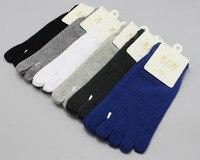 6 pares hombres Calcetines algodón hombres de alta calidad cinco dedos Calcetines
