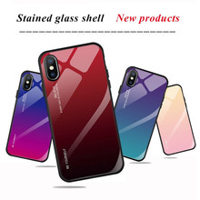 Gradient Tempered Glass Phone Case For Iphone Xs Max X Xr Cover Luxury Accessories