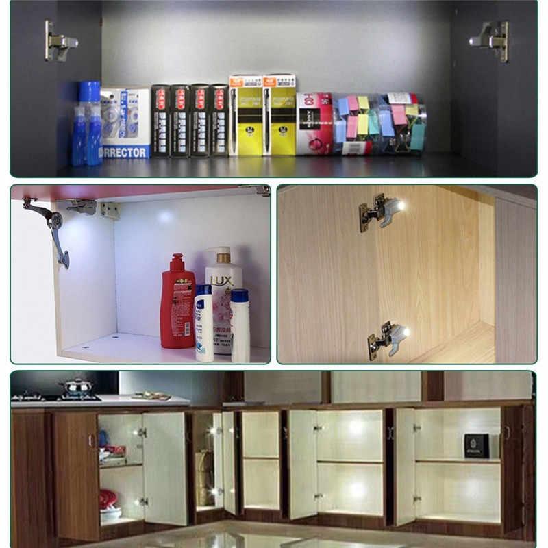10 шт. светодиодный датчик движения для кухонного шкафа, спальни, беспроводной шкаф, шкаф, ночник @ 3