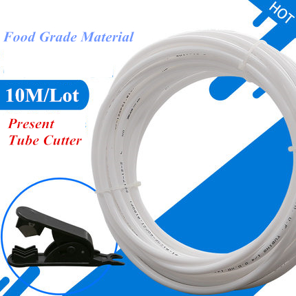 10M Food Grade Water Filter RO Hose White Hose Tube PE Pipe 1/4 Use for RO Water System электрическая плитка tesler pe 10 white pe 10 white