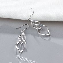 Twisted Tassel Double Layer Sterling Silver Drop Earrings