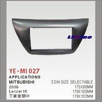 Liislee Car Refitting DVD GPS NAV Frame For Mitsubishi Lancer IX 2006 2 DIN CD DVD Panel Dash Board Kit / Radio Frame Audio ABS