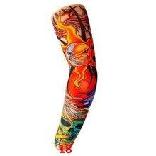 ┽ Качество Временные Татуировки Рукава Мужчины Бесшовные Поддельные Татуировки Рука Теплые Чулки