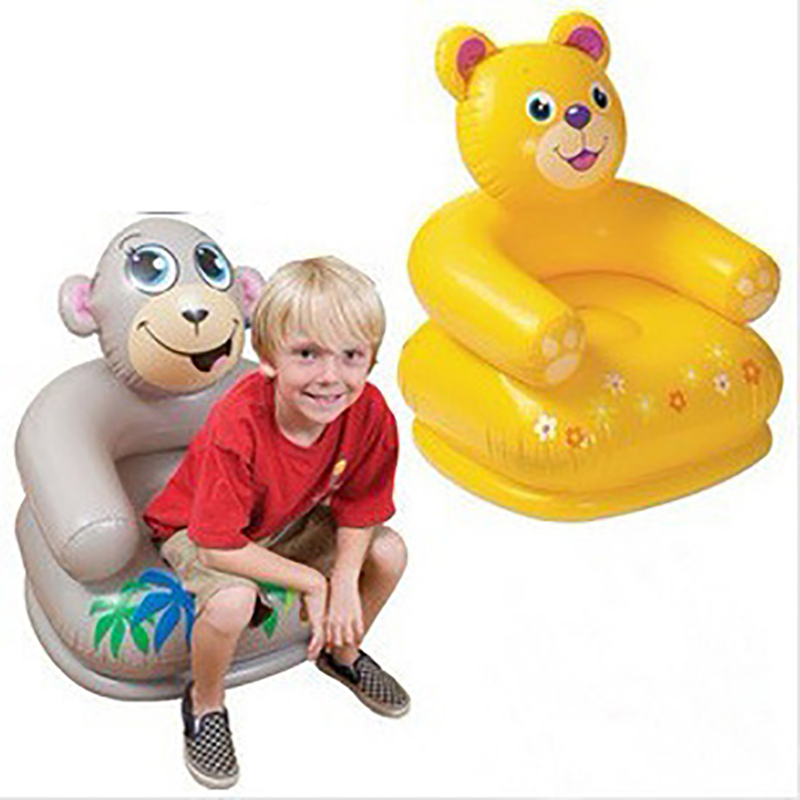 baby sofa baby inflatable chair toddler infant puff kids sofa Monkey bear children eating seat child armchair bathing bath chair pvc baby sofa inflatable kids training seat bath dining chair