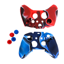 VODOOL High Quality Wired or Wireless Camo Protective Soft Silicone Gel Skin Case Cover for Xbox One Gamepads Controller Cover