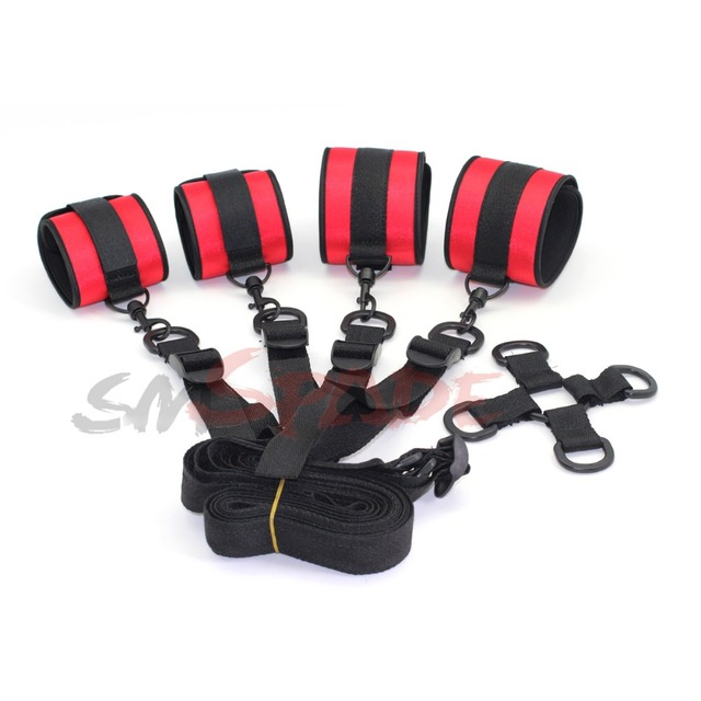 multifunctional under bed restraints kit,adult sex restraints for couples,hand and ankle restraint system,sex toys