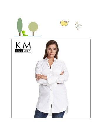 a60022f6c1c Kissmilk Plus Size New Fashion Women Bow Button Down Big Size White Long  Sleeve Chiffon Preppy Style Blouse 3XL 4XL 5XL 6XL