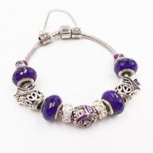 Сью Фил Новый 2018 Для женщин браслет модные Электроосаждение серебра Змея Чиан симпатичный с кристаллами браслет Прямая доставка