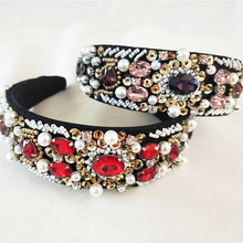 Women Lady Sequins Fashion Metal Rhinestone Head Chain Jewelry Headband Hairband  crown wedding Accessories