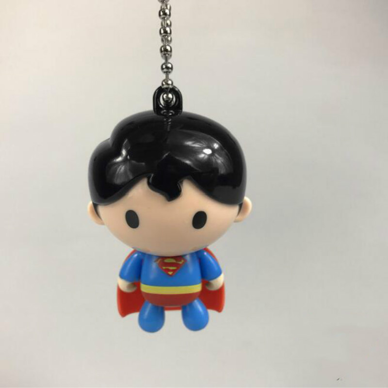 1Pc Hot sale Cute <font><b>Cool</b></font> Cartoon Anime Superman keychain bag Pendant figure <font><b>toys</b></font> <font><b>for</b></font> <font><b>kids</b></font> gifts image