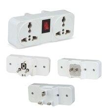 Adaptador de Viagem Universal 6A 1500 w UE REINO UNIDO EUA para a UE Europa REINO UNIDO EUA Plug Power Adapter adaptador de Tomada Interruptor plugue de parede
