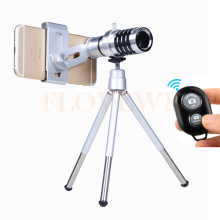 Promo offer Universal Clips Phone Lentes Kit 12x Telephoto Zoom Lens Telescope With Mobile Tripod For Samsung S5 S6 S7 S7 S8 edge Note 4 5