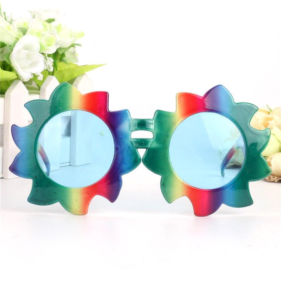 Gökkuşağı Ayçiçeği Kostüm Gözlük Dekoratif Parti Photo - Tatiller ve Partiler Için - Fotoğraf 3