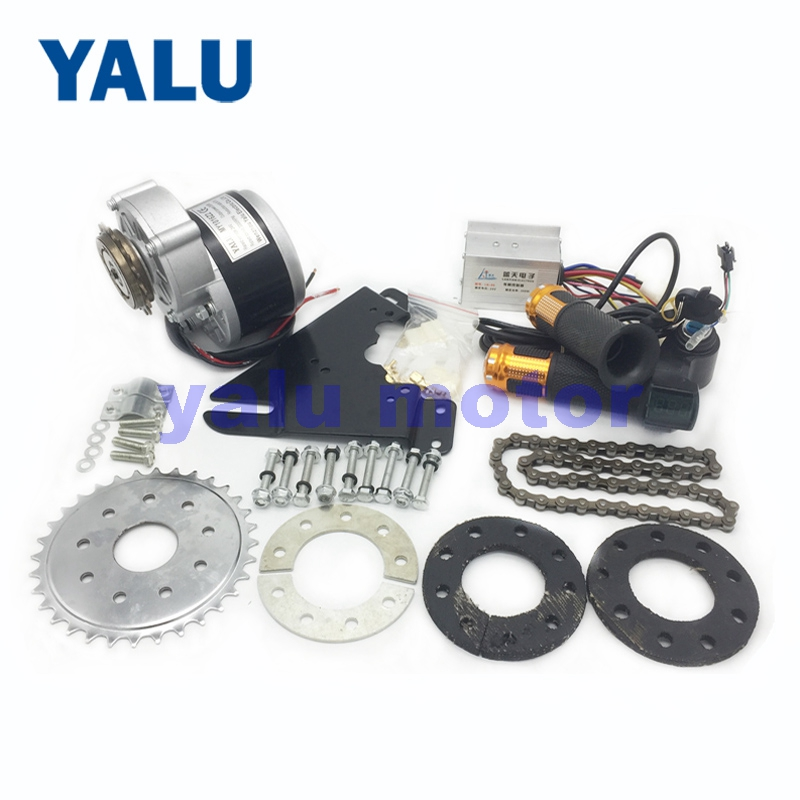 24/36V 250W Left Side Freewheel DIY Mountain Electric Bicycle Motor Kit With MY1016Z2 EBIKE Twist Thumb Throttle and Rubber Part