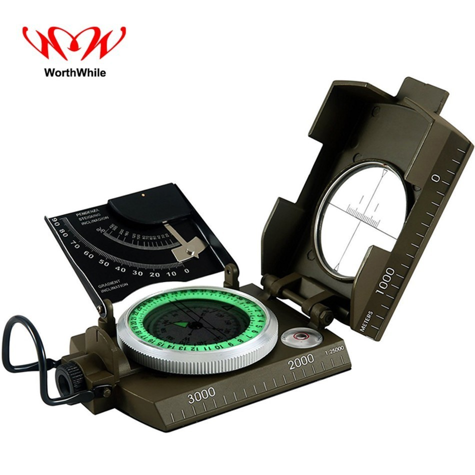 WorthWhile Military Multifunction Compass For Outdoor Camping Hiking Traveling Survival Equipment American Pocket Tools ...