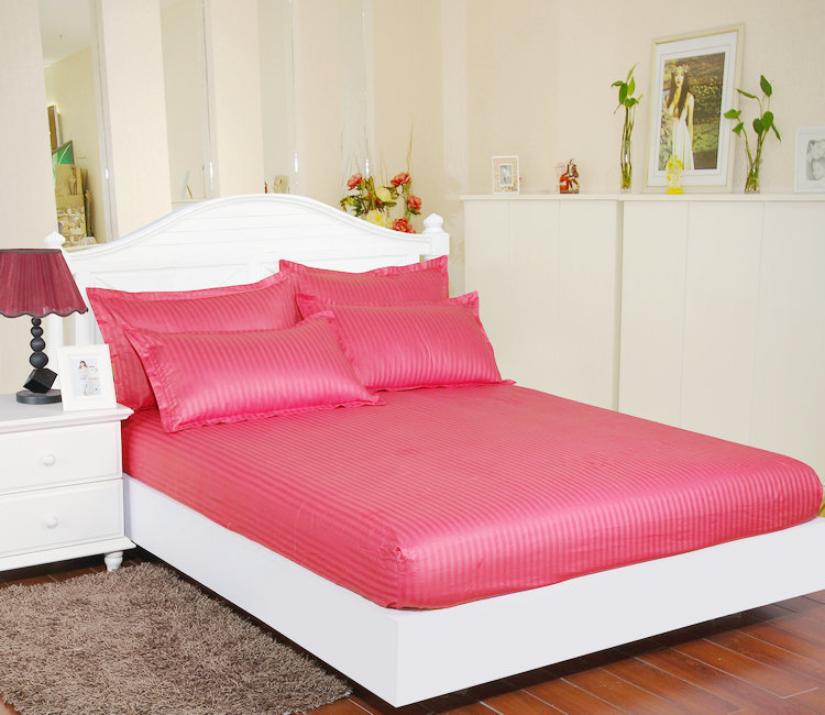Hotel / home Twin full queen king Size cotton Fitted Sheet With Elastic Band Bed Sheets Adult Mattress Cover Non-slip sheet