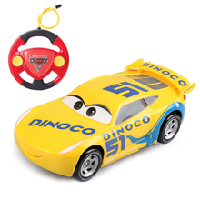 Disney Pixar Cars 3 22cm RC Cars Lightning McQueen Jackson Storm Cruz Ramirez Remote Control Plastic