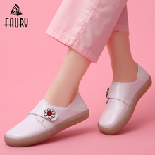 Work-Shoes Footwear Flat White Medical-Nurses Winter Women Hospital New Warm Soft Hook