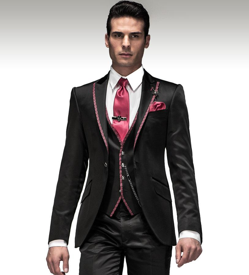 Popular Black Tie Suits-Buy Cheap Black Tie Suits lots from China