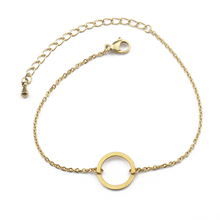 GORGEOUS TALE Stainless Steel Round Bracelets For Women Jewelry Gold Circle