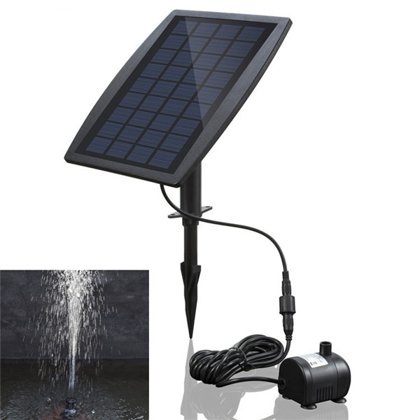 Solar Powered Water Pump Brushless DC Solar Power Fountain Pool Water Pump Garden Plants Watering Kit Solar Pond Pump Kit