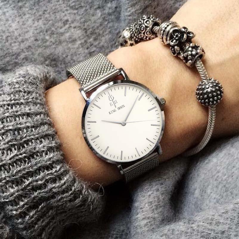 KING HOON srebrne žene satovi luksuz visoke kvalitete vode otporne - Ženske satove - Foto 5