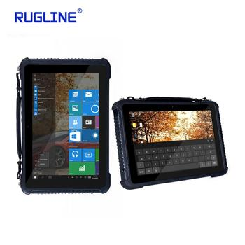 Rugline 10 inch Windows 10 home 4G standard layout RAM 4GB ROM 64GB Industrial Tablet panel PC with 1D 2D Barcode Scanner NFC