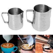 Stainless Steel Coffee Frothing Milk Latte Jug Fancy Foam Cup Pitcher 350/550ml