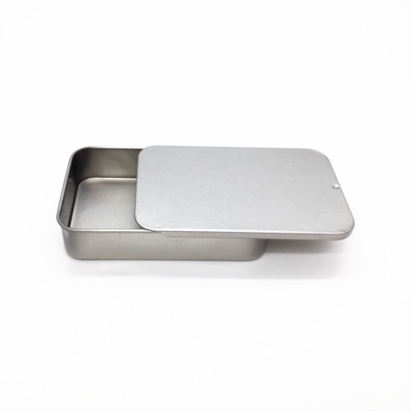 Size 90x60x20mm big sliding tin box mint tin metal case food candy box storage packing container