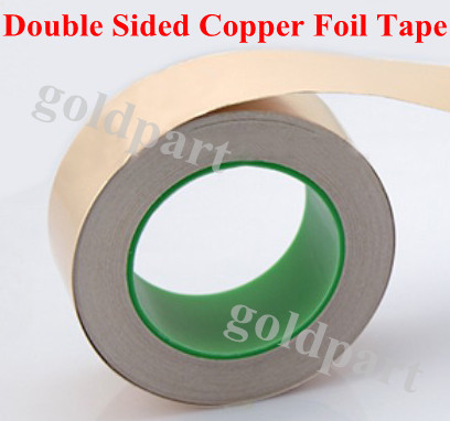 (0.06mm thick) 50mm*30M Single Sticky, Double Side Conducting Copper Foil Tape, Electromagnetic wave shield fit for LCD Monitor 0 06mm thick 50mm 50m double sides conducting single adhered aluminum foil mask tape fit for monitor lcd