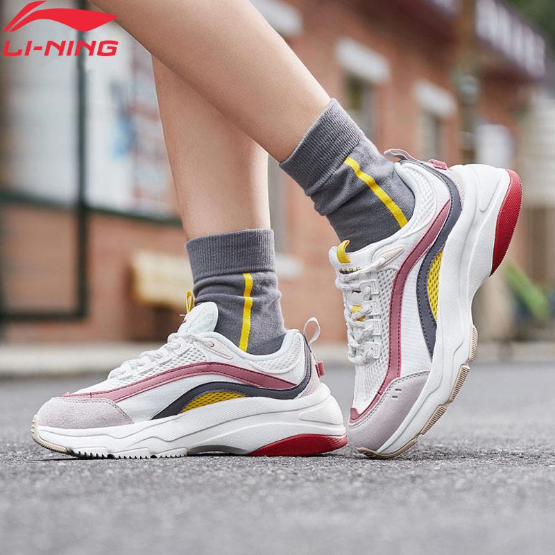 Li-Ning Women AURORA WINDWALKER Lifestyle Shoes Retro Wearable LiNing Li Ning Sport Shoes Comfort Sneakers AGCP108 YXB307