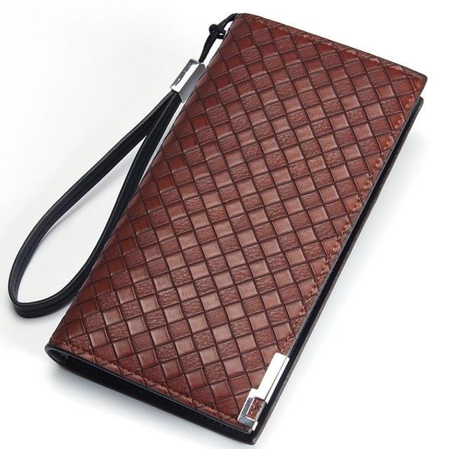 Nuevos hombres del embrague carteras de gran capacidad organizadora baellerry portátil correa cremallera cartera de los hombres de negocios a largo cartera billetera hombre
