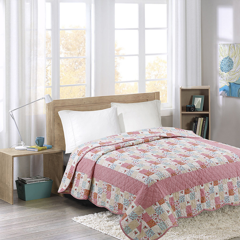 CHAUSUB Summer Bedspread Patchwork Quilt 1pc 100% Cotton Kids Coverlet Student Quilts Twin Size 150x200cm Quilted Sofa BlanketCHAUSUB Summer Bedspread Patchwork Quilt 1pc 100% Cotton Kids Coverlet Student Quilts Twin Size 150x200cm Quilted Sofa Blanket