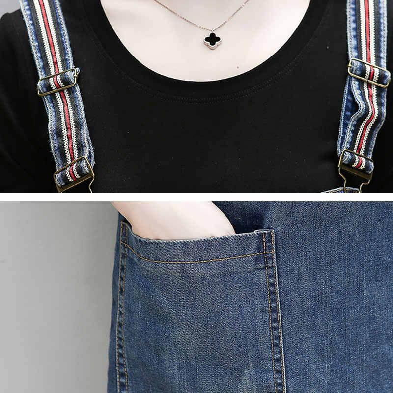 Плюс размер платья повседневные летние женские джинсовые женские платья 2019 Свободные Спагетти ремень платье джинсы тонкое платье женские Vestidos HS195
