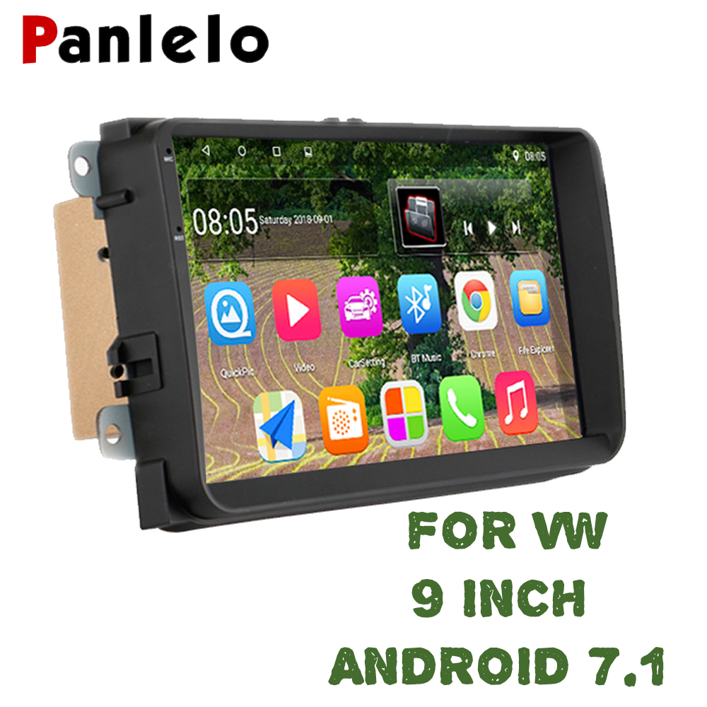 Panlelo For VW Android 6.0 1G 16G Car Radio Stereo 9 inch Touch Screen GPS Navigation Bluetooth USB Player For VW Polo Passat b6