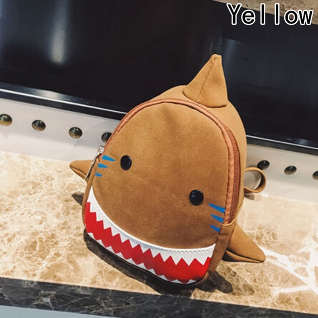 Waterproof School Bags Blue 3D Shark Kids Backpack Cartoon Animal Children  School Bags For Girls Boys Toddler Baby Bag