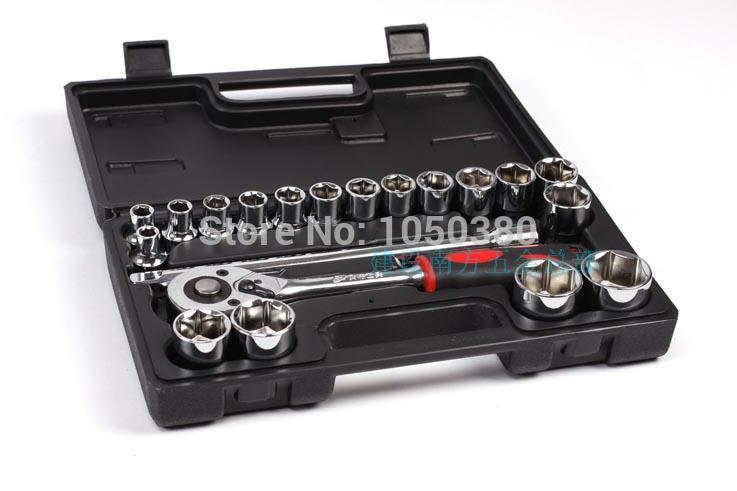 20pcs 12.5mm Socket set Ratchet Handle Set Combination Auto/Automotive/vehicles/car Repair  Kit  manual    Hand Tool 46pcs socket set 1 4 drive ratchet wrench spanner multifunctional combination household tool kit car repair tools set
