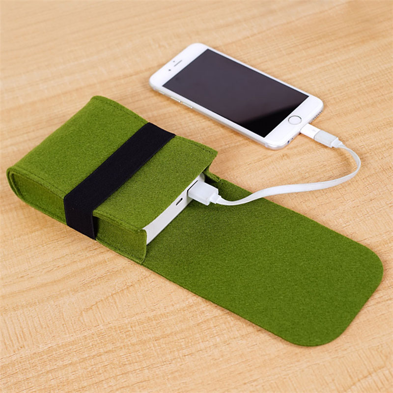 Travel Woolen Digital Bag Power Bank USB Charger Cable Earphone Bag Felt Storage Pouch Bag Case Accessories  Packing Organizers