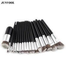 Chubby Pier Makeup Brush Set 18pcs Foundation Powder Kabuki Flat Cream Eyeshadow Brushes Professional Cosmetic Make-up