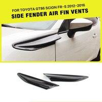 Carbon Fiber Car Side Fender Trims Auto Side Vents Air Intake for Toyota GT86 Scion FR S 2012 2016